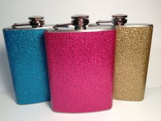 Party Girl Glitter Flask on Etsy, $14.00