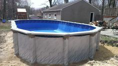 Serenity above ground pool being installed in norwood ma for Namco pools
