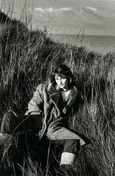 Portrait of Charlotte Rampling by Jeanloup Sieff, Normandy, 1985