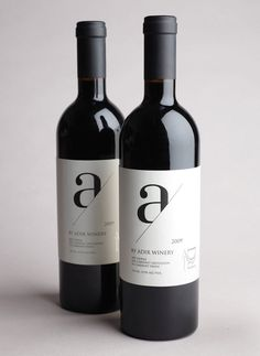 I have a fixation with the lowercase letter a #design #packaging #wine