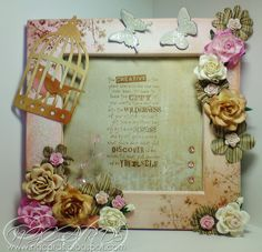 NGCARDS: Altered Frame ... Tim Holtz Style!!!