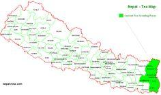 Nepal : Tea Growing Regions (887×529)