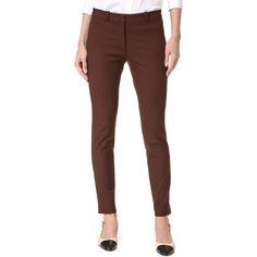 Joseph New Eliston Pants (1 125 PLN) ❤ liked on Polyvore featuring pants, capris, slim fit trousers, zip pants, cropped trousers, slim fit pants and joseph trousers