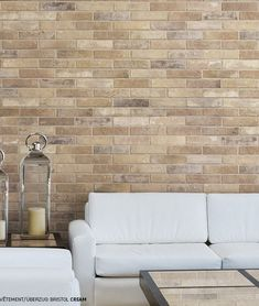 Brick by Rondine Bristol Cream Richmond Melbourne, Cream Living Rooms, Style Tile, Brick Wall, Bristol, Bad, Tile Floor, Tiles, Flooring