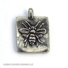 Green Girl Studios Sweet Honey Bee Pendant by beadloverskorner #daytonaetsy
