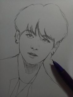New art dibujos pop ideas Jungkook Fanart, Kpop Fanart, Bts Jungkook, Kpop Drawings, Pencil Art Drawings, Art Drawings Sketches, Easy Sketches To Draw, Drawing Drawing, Art Inspo