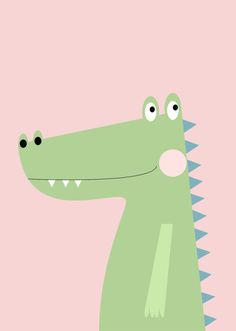 〽️r cocodrillo Kids Room Art, Art Wall Kids, Art For Kids, Crocodile Illustration, Cute Illustration, Drawing For Kids, Painting For Kids, Nursery Prints, Nursery Art