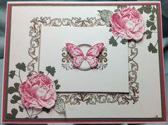 Beautiful card using Papaya Collage using Stampin Up products.