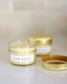 Pet Paw Balm is part of Paw balm - The ice, snow, and salt from pavements can do a number on your dog's paws A homemade balm—of natural ingredients like shea butter, coconut oil, and beeswax—is the perfect ointment to keep his paw pads healthy this winter Dog Crafts, Animal Crafts, Pet Paws, Homemade Dog, Homemade Soaps, Diy Stuffed Animals, Make And Sell, Cookies Et Biscuits, Dog Biscuits