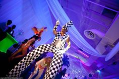 "La Hora Loca, hot new #Miami #wedding trend. Stilt walkers, carnival style dancers, black light neon glow show. Very unique!!    Girls Gone Bridal, ""La Hora Loca"" by 84 West Studios | 84 WEST STUDIOS South Florida Weddings"