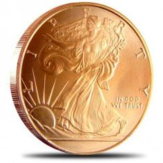 Walking Liberty 1 Ounce Copper Round