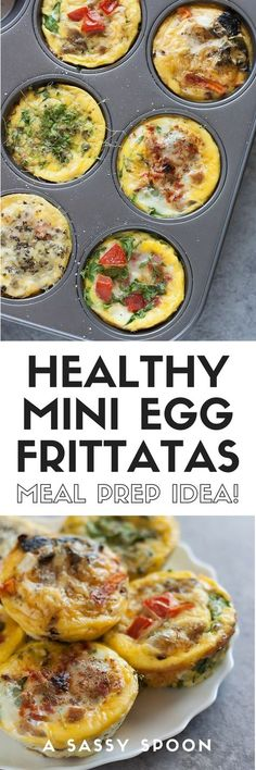 Avoid skipping breakfast by making these healthy egg muffin cups ahead of time with kale, spinach, eggs, cheese, or leftovers! via @asassyspoon