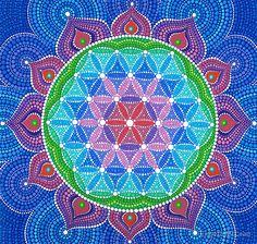 Lotus Flower of Life by Elspeth McLean