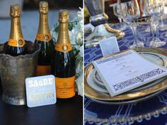 Navy and Gold Vintage Glam Wedding Inspiration #sparklingeverafter