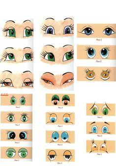 Ojos de fofuchas para imprimir