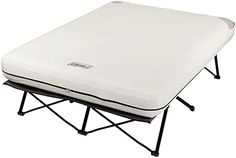 Amazon.com : Coleman Camping Cot, Air Mattress & Pump Combo | Folding Cot with Side Tables, Air Bed & Battery Pump, Queen : Camping Air Mattresses : Sports & Outdoors Camping Mattress, Air Mattress, Queen Mattress, Fold Up Beds, Coleman Camping, Cabin Tent, Bed Reviews, Camping Supplies, Queen Size