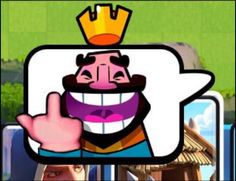 When you hardly beat your opponent and you just want to show him your king's middle finger. This is what is missing in Clash Royale, do you…