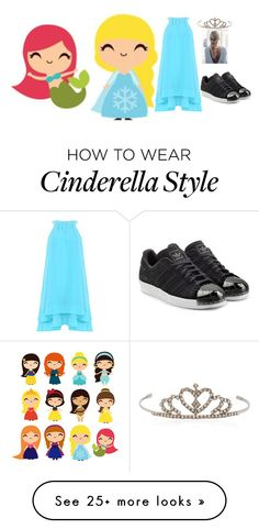 """""""Elsa IRL"""" by bernicekwesele on Polyvore featuring Badgley Mischka, Yves Saint Laurent and adidas Originals"""
