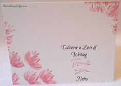 April is National Card and Letter Writing Month! To celebrate, Discover the Love of Writing Thank You Notes; www.thewellnesswife.com