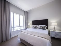The Radisson 1303 - This stunning one bedroom apartment is part of the newly refurbished Radisson building in Cape Town CBD. The apartment is brand new and designed in a modern sophisticated style. It has all the requirements . Decor, Furniture, Pretty House, One Bedroom, Home Decor, Bedroom Decor, Decorating Your Home, Bedroom, One Bedroom Apartment