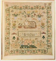 Eliza Ann Edwards 1826 Sampler published in Woman's Day magazine 1961