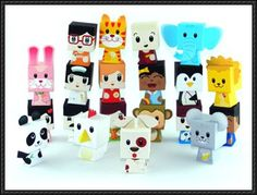 20 Finger Puppet Cube Paper Toys Free Download