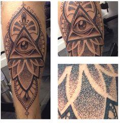 illuminati tattoo mandala