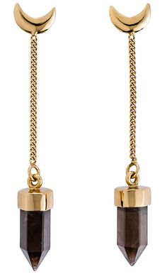 MANIAMANIA Gold Eclipse Drop Earring