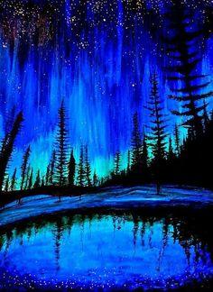 pintura árvores