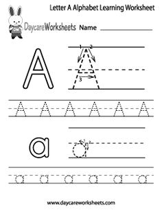 Printables Learn To Write Letters Worksheets pinterest the worlds catalog of ideas preschool letter a alphabet learning worksheet