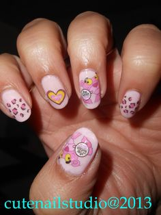 PINK PANTHER NAILS.