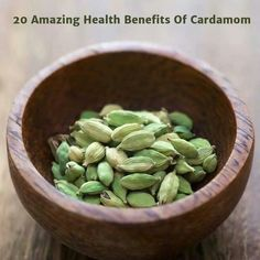 1. Cardamom fight against gas. It helps to relieve gas and heart burn. 2. Cardamom gives instant relief from the headache.(applying the paste over forehead gives the relief.) 3. Cardamom is useful for the protection against heat stroke. One should chew a cardamom while going outside home in sun. 4. Aromatic cardamom acts as breath freshener because of its fragrance. 5. Cardamom is very good refinement spice against caffeine. (detoxifies caffeine). 6. Helpful in balancing all the three doshas…