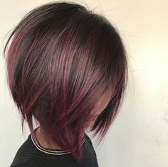 * Beautiful shape + color ... by @styled_by_carolynn #BEHINDTHECHAIR #alinebob #bobs