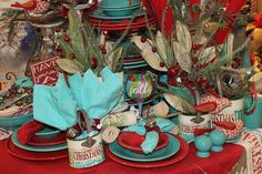 Turquoise and Red Christmas!