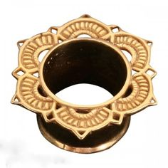 """Lotus Plug in Gold Plate 1/2"""" guage 12.5mm"""