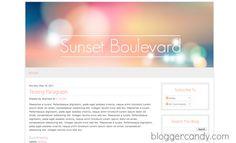 Sunset Boulevard - Free Bokeh template for Blogger