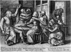 After Cornelis Massijs  1745 Prortitutes