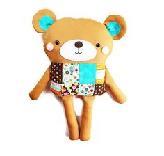 Bear Sewing Pattern Easy PDF Patchwork Sewing Pattern Bear Doll Softie