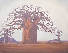 Die Kremetartboom (Baobab Tree), 1934 by Jacobus Hendrik Pierneef on Curiator, the world's biggest collaborative art collection. Baobab Tree, Baobab Oil, African Paintings, South African Artists, Inspiration Art, Pretoria, Art Market, Oeuvre D'art, Les Oeuvres