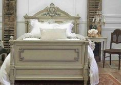 Wow what a gorgeous French rustic style bedroom