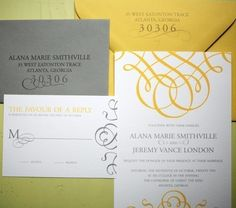 Grande Flourish Invitation Suite by FoglioPress on Etsy