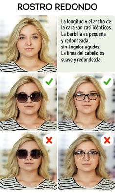 Here are super easy ways to choose the perfect sunglasses for any face shape. If… Here are super easy ways to choose the perfect sunglasses for any face shape. Eyeglasses For Round Face, Round Face Makeup, Round Face Sunglasses, Cute Sunglasses, Sunglasses Women, Round Face Glasses Frames, Glasses For Long Faces, Frames For Round Faces, Womens Glasses Frames