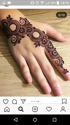 New Indian Bridal Mehndi Hands India Ideas Finger Henna Designs, Simple Arabic Mehndi Designs, Henna Art Designs, Mehndi Designs For Girls, Mehndi Designs 2018, Mehndi Designs For Beginners, Stylish Mehndi Designs, Mehndi Designs For Fingers, Mehndi Design Images