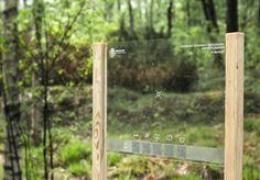 Info-Coop // Exploration of the Sign by Hannes Ahremark, via Behance Park Signage, Wayfinding Signage, Signage Design, Gros Morne, Navigation Design, Sign System, Outdoor Signage, Entrance Sign, Interactive Installation