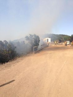 Imagen de los efectivos en el lugar del suceso (Foto Gomeranoticias)