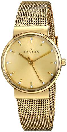 Skagen Women's SKW2196 Ancher Quartz 3 Hand Stainless Steel Gold Watch