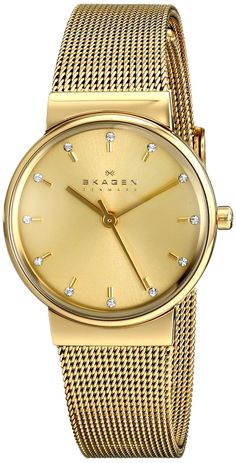 Skagen Women's SKW2196 Ancher Quartz 3 Hand Stainless Steel Gold Watch