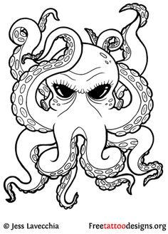 Half Sleeve Tattoo Drawings   Octopus Tattoo Designs & Meaning