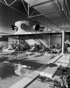 Pop Science Fiction Modern -- Albert Frey House #1, 1941-53, photo by Julius Shulman