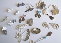 A few of the finished jewellery designs from my new range (out soon!). From Simone Walsh